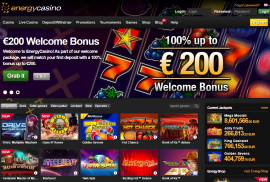 EnergyCasino – online games without deposit