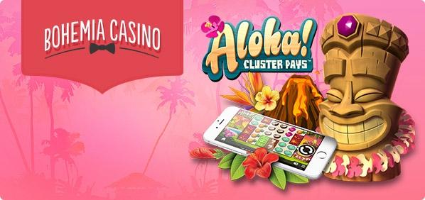 Získejte 5 free spinů denně na slotu Aloha! Cluster Pays v mobilu!
