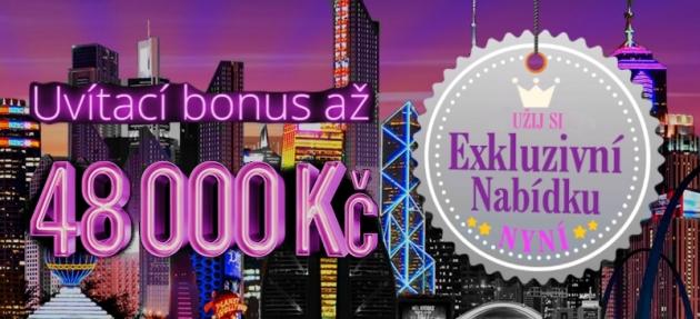 Vstupní bonus 48 000 Kč v JackpotCity casinu!
