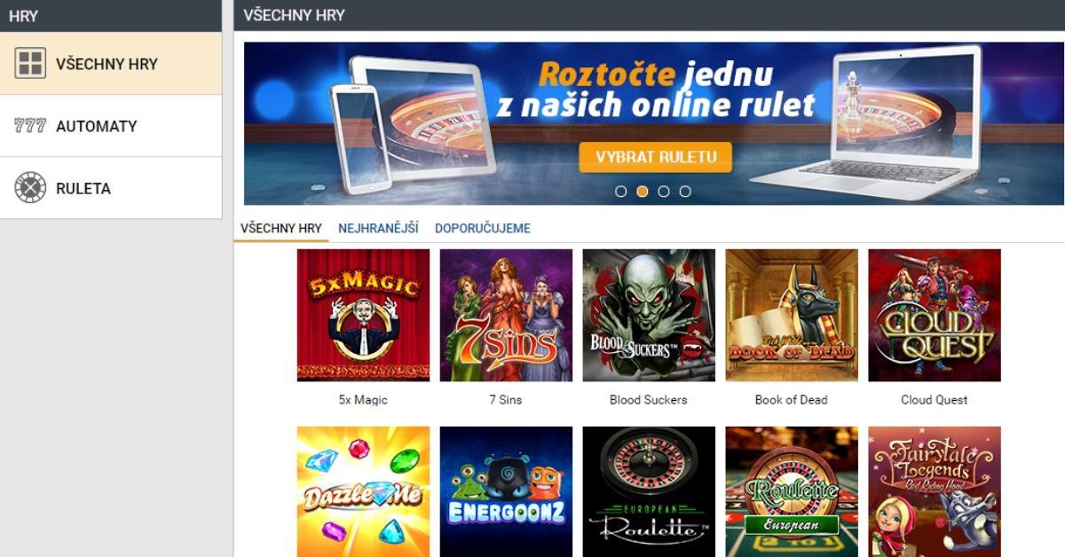 Tipsport Vegas - nové české online kasino!