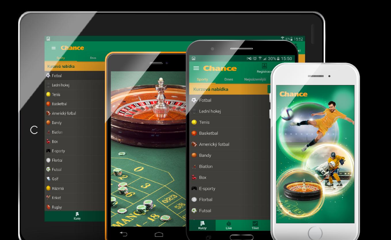 Mobilní aplikace pro online casino
