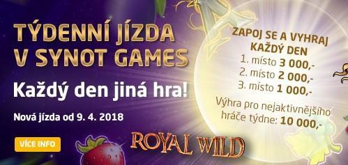 Týdenní jízda v Synot Games přináší tisíce korun denně!
